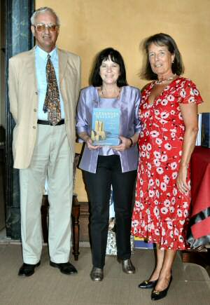 Lord Charles and Lady Clare Howick with the author at Elizabeth Bay House.